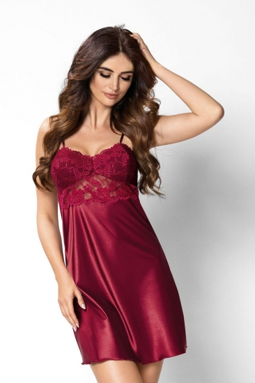 donna Venus nightdress Burgundy