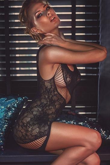 anais Adios платье-сетка