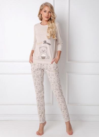 aruelle SWEET BEAR BEIGE Пижама женская со штанами