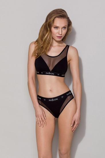 Бюстгальтер passion lingerie PS002 top Black