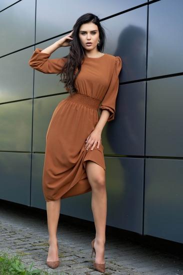 merribel D8 Bouquetina sukienka Camel платье