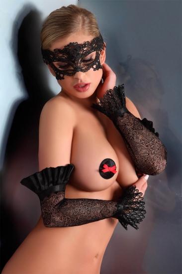 livco corsetti fashion LC 28008 gloves model 10 Black митенки