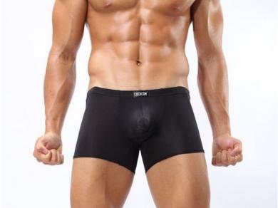 Трусы Cockcon Мужские трусы боксеры прозрачные черные Cockon Black Transparent Boxer 809