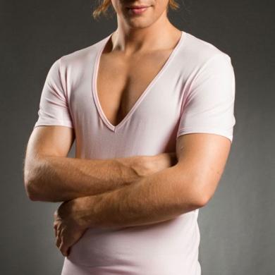 Футболка Doreanse Мужская футболка 2820 Pink