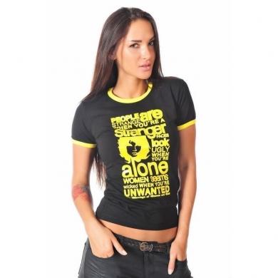 Epatage (женское) Женская футболка черная 010608w