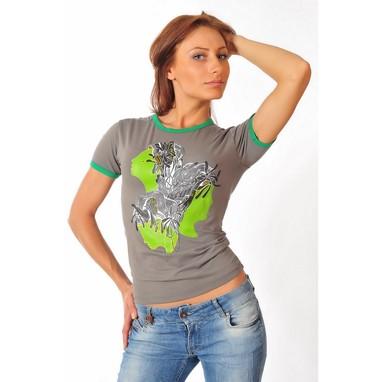 Epatage (женское) Женская футболка серая 030720w