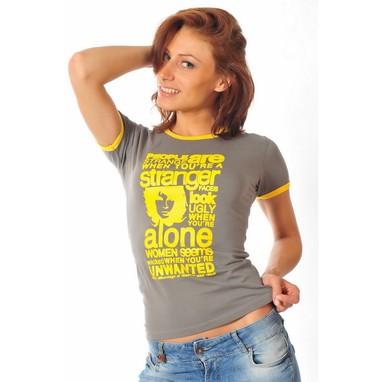 Epatage (женское) Женская футболка серая 030608w