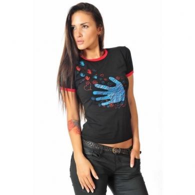 Epatage (женское) Женская футболка черная 0104130w