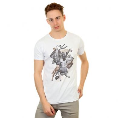 Fra`n`co Мужская футболка белая Fra`n`co 012-7