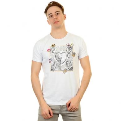 Fra`n`co Мужская футболка белая Fra`n`co 012-6