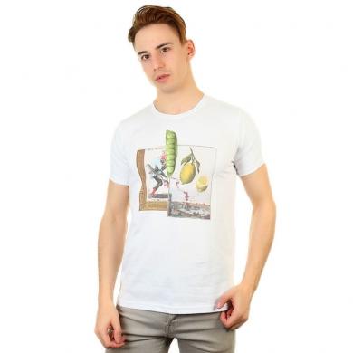 Fra`n`co Мужская футболка белая Fra`n`co 012-4