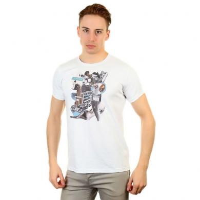 Fra`n`co Мужская футболка белая Fra`n`co 012-3