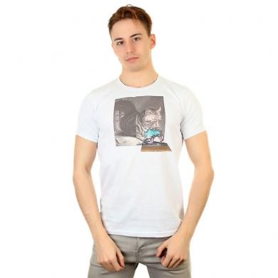 Fra`n`co Мужская футболка белая Fra`n`co 012-5