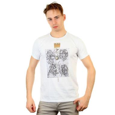 Fra`n`co Мужская футболка белая Fra`n`co 012-8