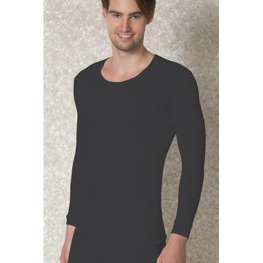 Doreanse Мужская термофутболка черная с длинным рукавом 2970