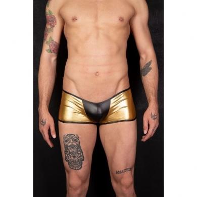 cosmos colors Мужские трусы боксеры золотистые с черной вставкой MR30_ BG