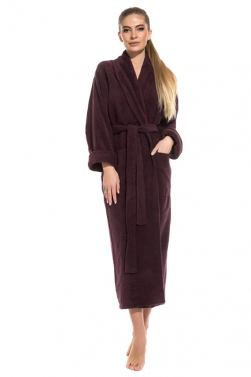 evateks Удлиненный махровый халат Pure Comfort (PM 740) сливовый