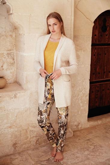 miss loren Стильный комплект - тройка. Вязанный кардиган, брюки и лонгслив Miss Loren (E 1609)