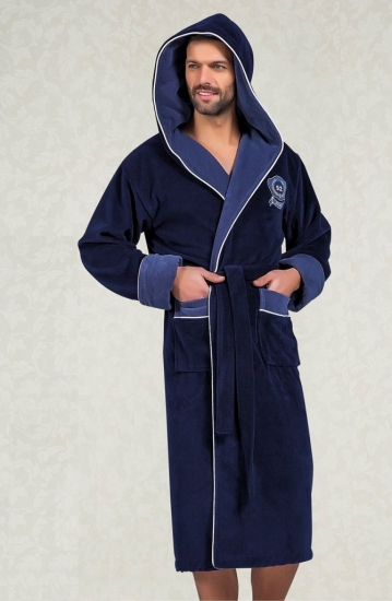 nusa Махровый халат с капюшоном из бамбука Marksman (EN 7160)