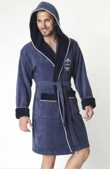 nusa Укороченный махровый халат с капюшоном из бамбука Marksman (EN 7160-1)