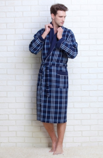 evateks Мужской вафельный халат Gentelmen Style (E 10020)