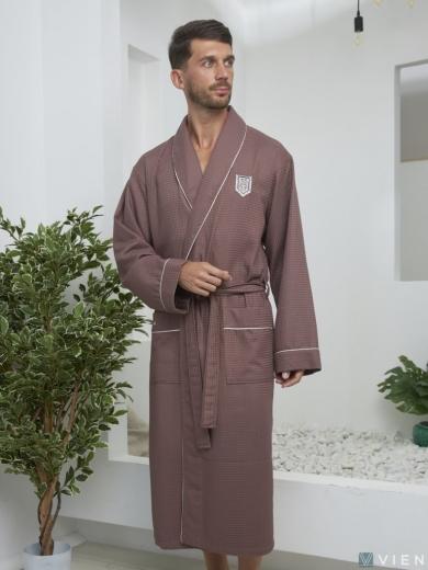 vien Бамбуковый вафельный халат Monte Carlo (EFW)