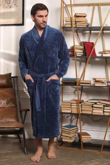vien Велюровый мужской халат Harvard (EFW)