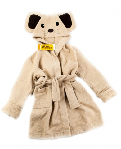 pÊche monnaie Детский махровый халат Funny Mouse (PECHE MONNAIE France 5) бежевый