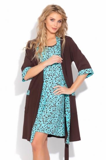 evateks Трикотажный домашний комплект STAR (E 520) халат сорочка