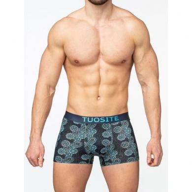 toust Мужские трусы-боксеры синие с принтом TS7802-1