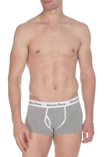 Трусы Romeo Rossi Мужские трусы хипсы серые RR365-3 Boxer Brief размер XXXXL Серый