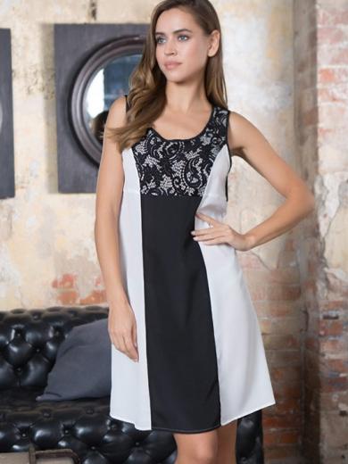 """Mia Mia Мираж №17604 Платье """"Black/White"""""""