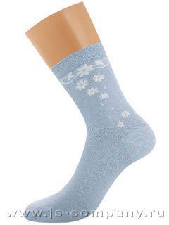 Носки Griff D264 BAMBOO орнамент на боку и пятке носки женские