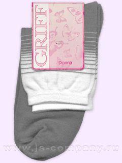 Griff D511 двухцветный с полосами носки женские