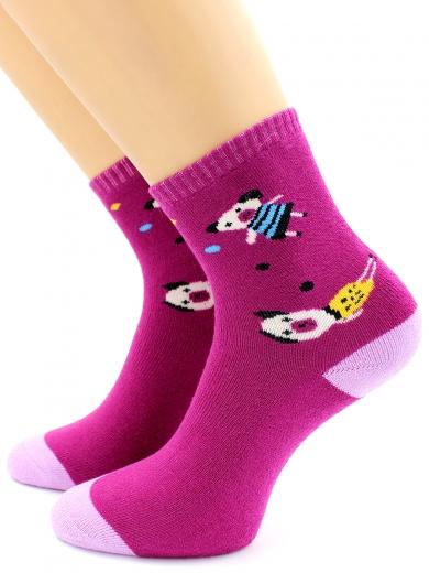 HOBBY 3653 носки детские махровые внутри веселые поросята