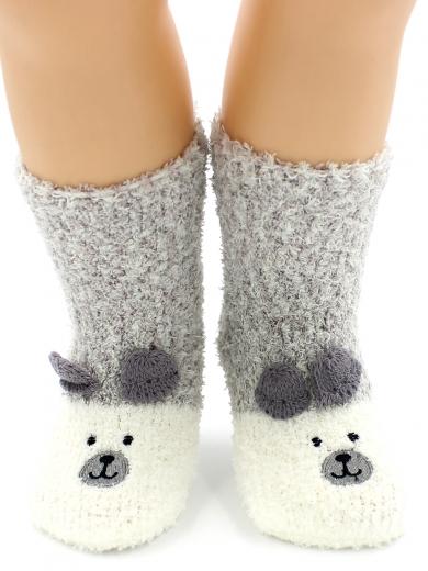 """HOBBY 3316 носки детские махровые травка """"Мишка 3Д"""""""