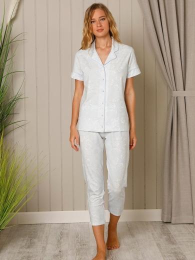 "Hays Пижама ""Mai Jacket Capri"" 18528 размер 48 цвет:голубой"